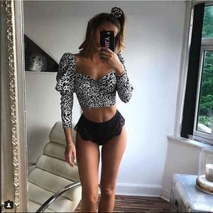 Leopard Bustier Top