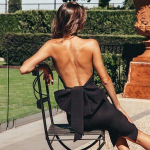 Black Bow Back Dress