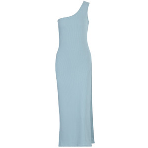 Blu One Shoulder Maxi