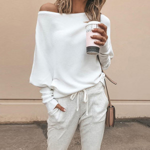 White Off Shoulder Knit