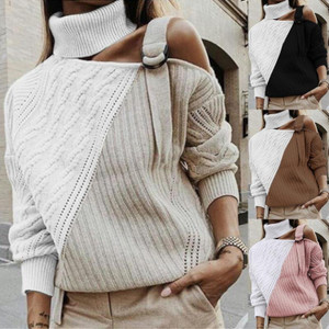 Colorblock Belt Sweater