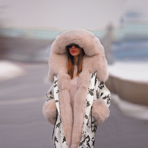 Chloe Fur Hood Coat