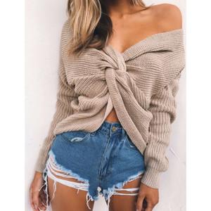 Twisted Tan Sweater