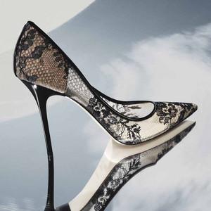 Floral Lace Heel