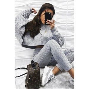 Grey Knit Set
