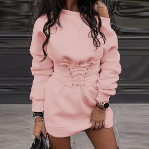 Pink Corset Sweat Dress