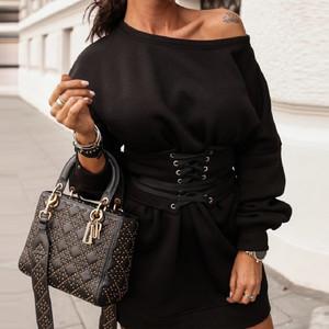 Black Corset Sweat Dress