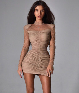 Runched Sparkle Dress