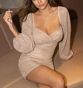 Wrap Glitter Dress
