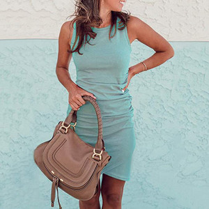 Ruched Sleeveless Tank Bodycon