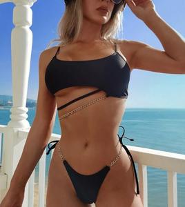 Slash Chain Bikini Black