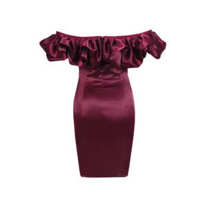 Chocolate Ruffle Dress