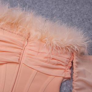 Feather Slash Dress