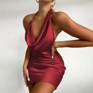 Alara Drape Dress Red