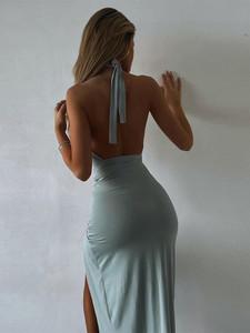 Twist it Dress Blue