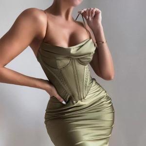 Olive Bustier Dress