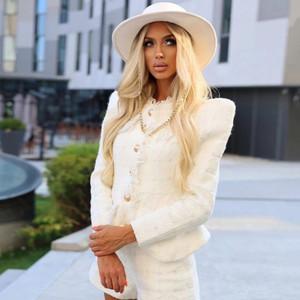 White Tweed Suit