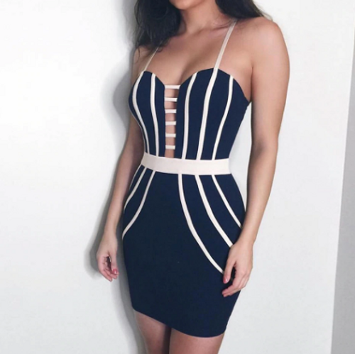 Lined Bodycon Dress
