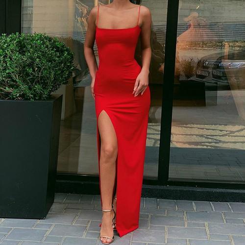 Fire Red Maxi Dress