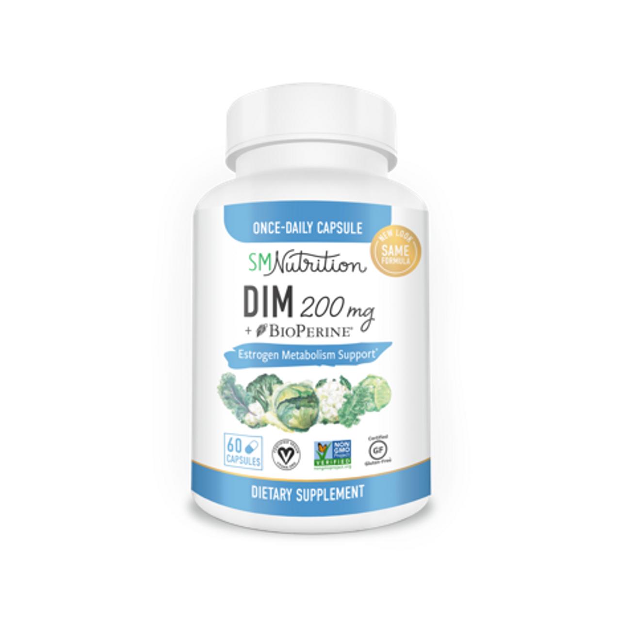 DIM 200mg with BioPerine, 60 Capsules
