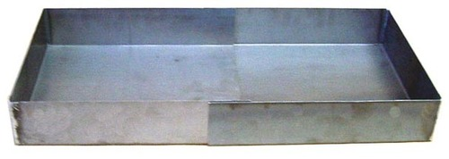 This is a Mini Fire Pan. No frills, just a simple Steel box made from 14Ga soft steel. One side slides into the other, making an open fire pan that measures from 15 to 25 inches long x 13 1/2 x 3 1/4. With the pan closed, it is a compact 15 x 13 1/2 x 3 1/4. It is intended to be placed directly on the ground.