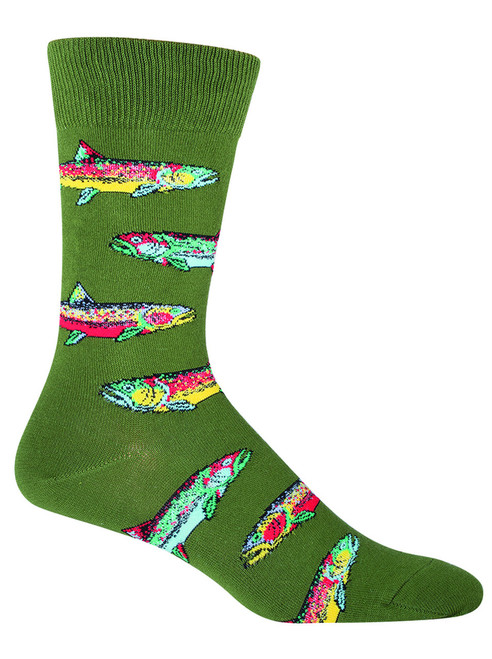SOCKSMITH - TROUT PARROT GREEN