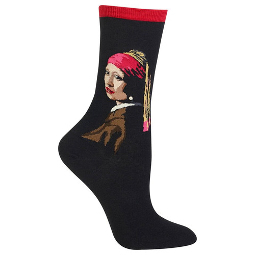 HOTSOX - Girl With Pearl Earring - Red