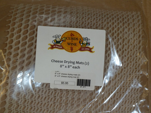 "8"" x 8"" cheese drying mats (2)"