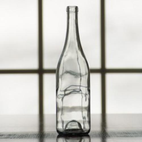 Clear Burgundy Wine Bottles case/12