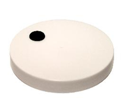 Lid with grommeted hole for wide mouth jars