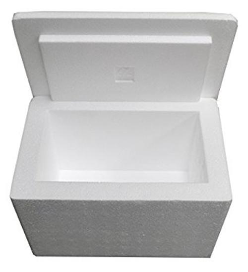 Styrofoam box for dry ice