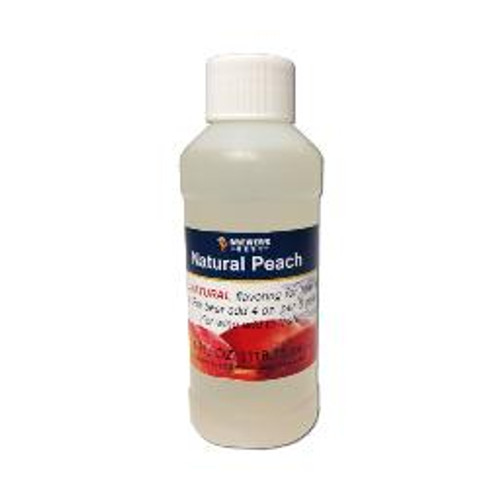 Natural Peach flavoring extract, 4 oz
