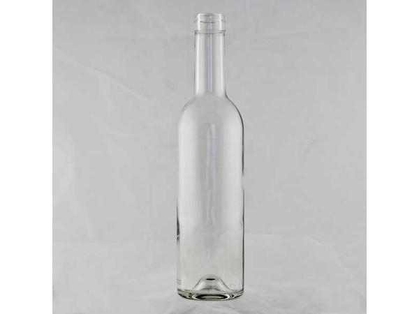 Clear claret (bordeaux) wine bottles case/12