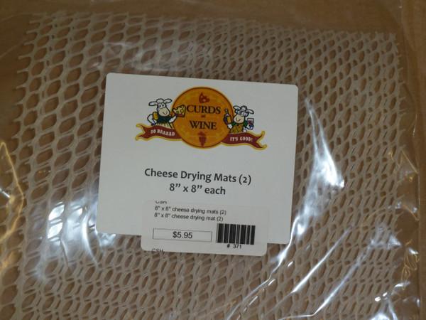"8"" x 8"" cheese drying mats (2)"
