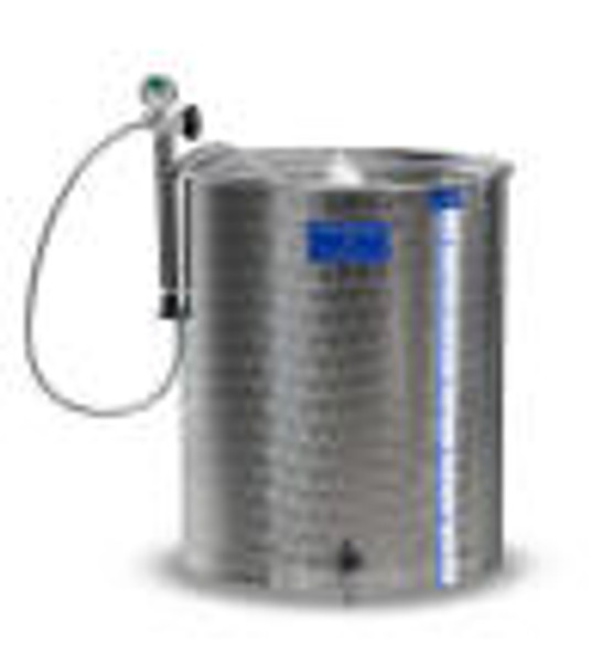 100 L Marchisio Stainless steel tank with variable lid
