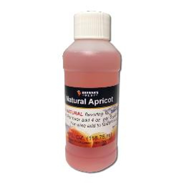 Natural Apricot flavoring extract, 4 oz