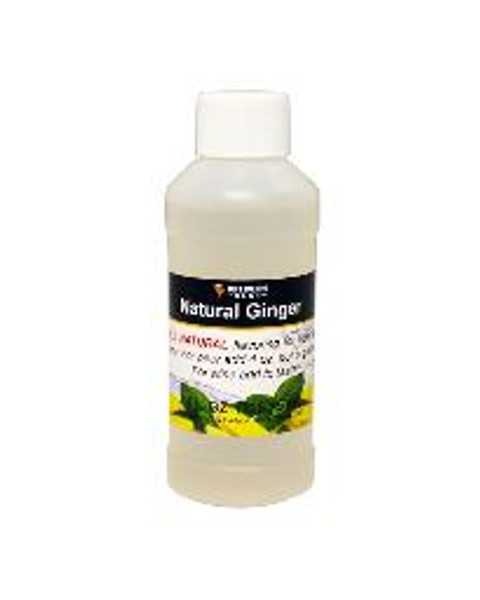 Natural Ginger flavoring extract, 4 oz