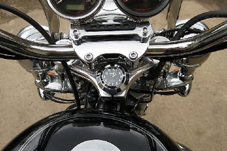 Marlin's Motorcycle Clock FSBC2 Large Billet Fork Stem Mount Fits Softails® -'06 - Current Dynas® -Wide Glides®, FXDWG® - Newer Sportsters® most VRSC™