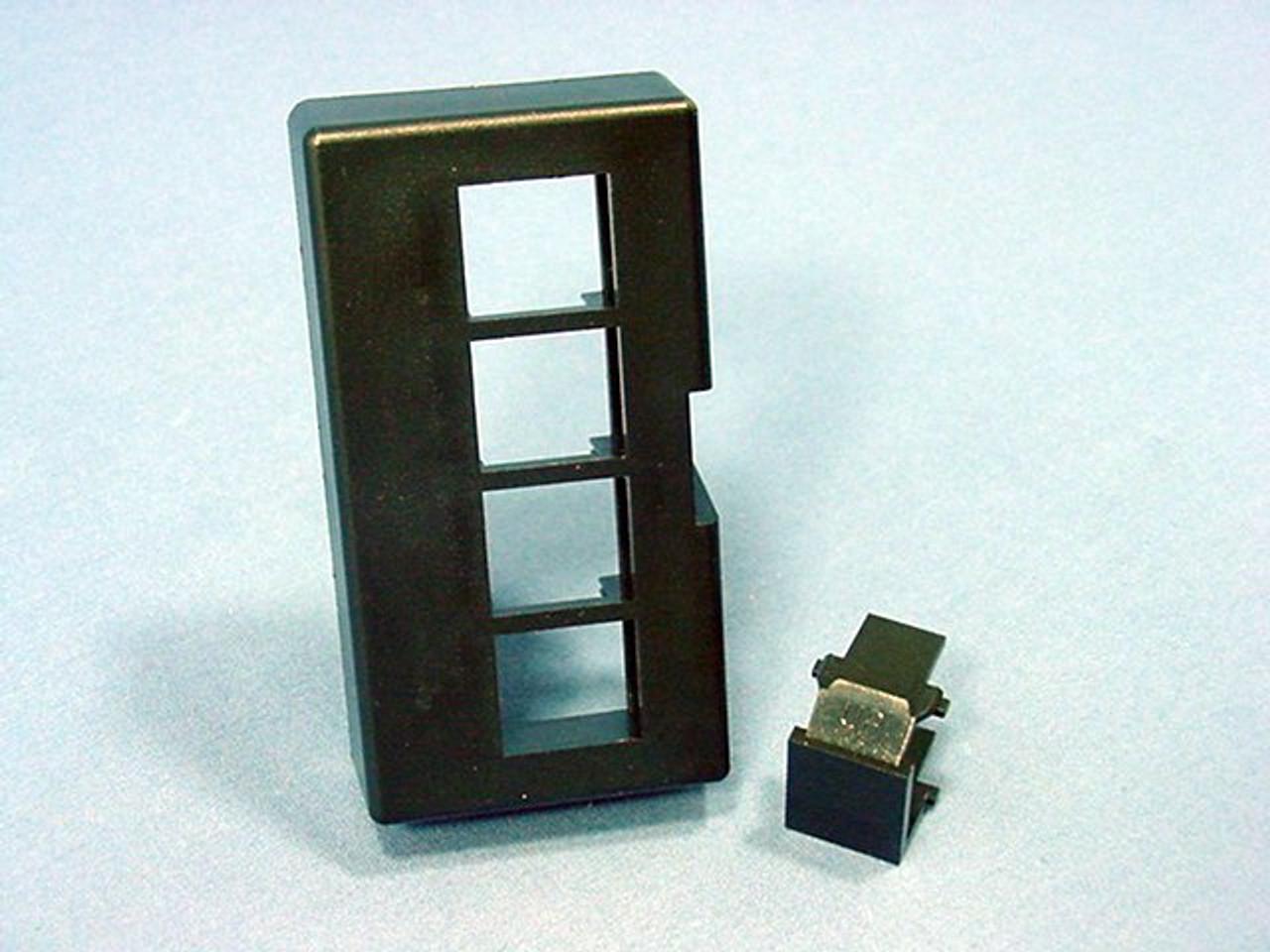 Leviton 49910-HE2 2-Port QuickPort Modular Furniture Faceplate Black Herman Miller