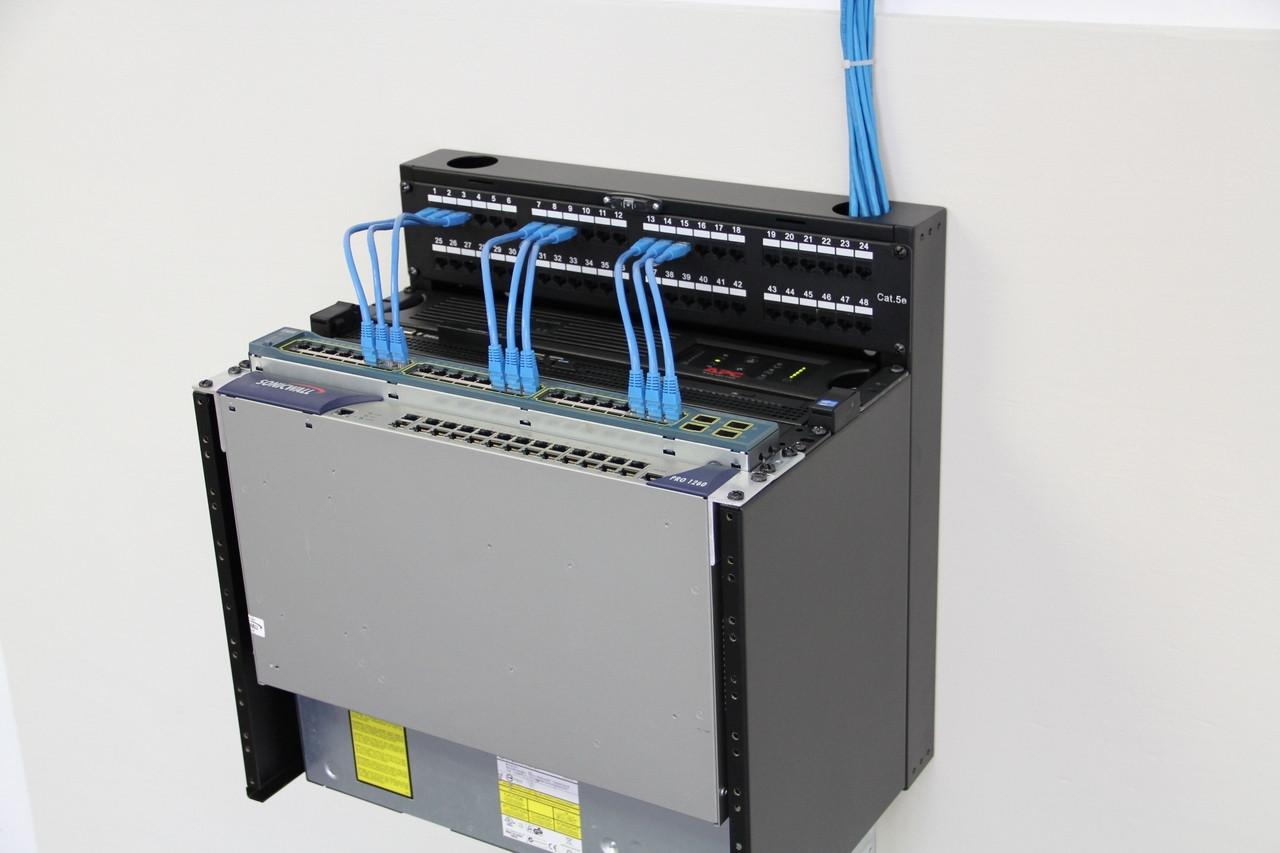 MINIRAQ MRQ100V06 6U 4U Vertical + 2U Horizontal Slim Wall Mount Rack System
