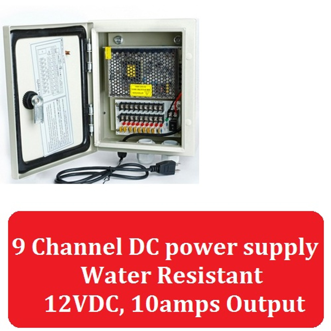 Metal Waterproof Security Power Supply Switch Box for CCTV Security Camera