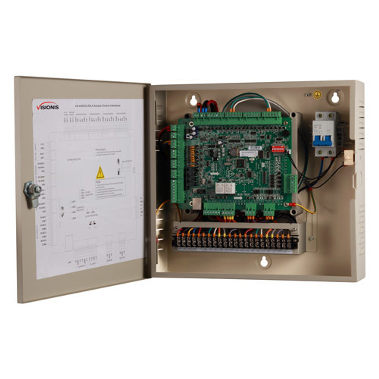 2 Door Access Controller Panel Board and 32 Bit Vsionis Magnetic Lock Wiring Diagram on