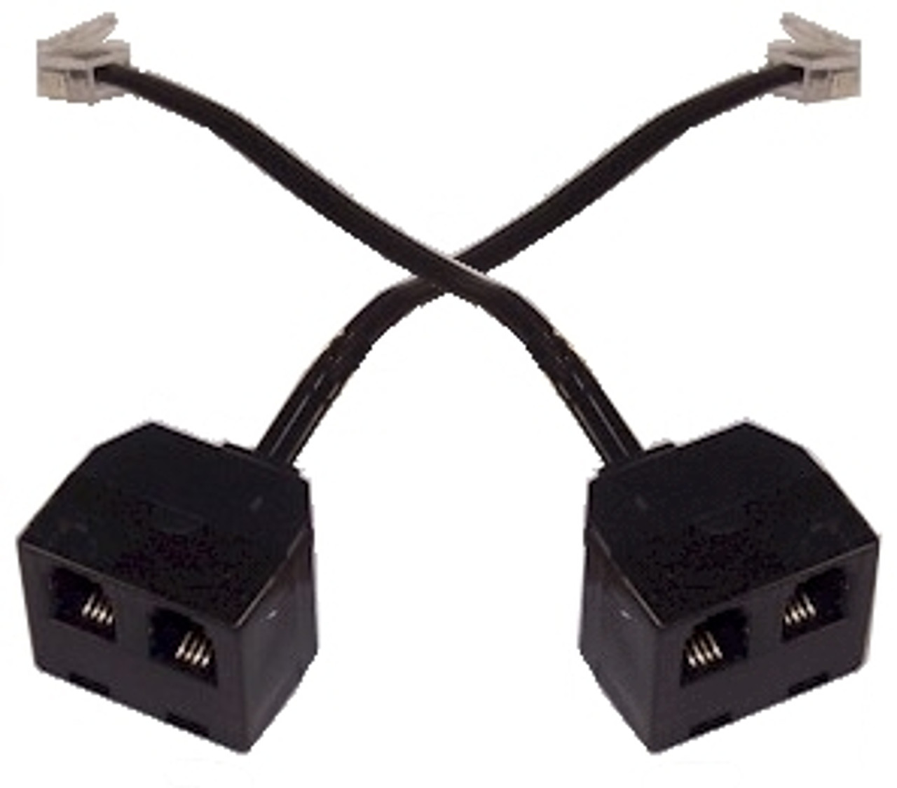 Two Way Telephone Handset Splitter Headset Y