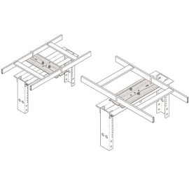 Chatsworth CPI Mounting Plate Rack-to-Runway 3 in Channel 9 to 12 in 10595-712