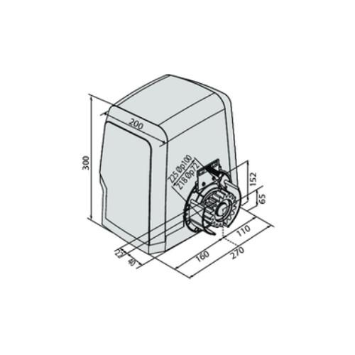 BFT | ARES | Ultra | BT | A1500 | Sliding | Gate | Motor