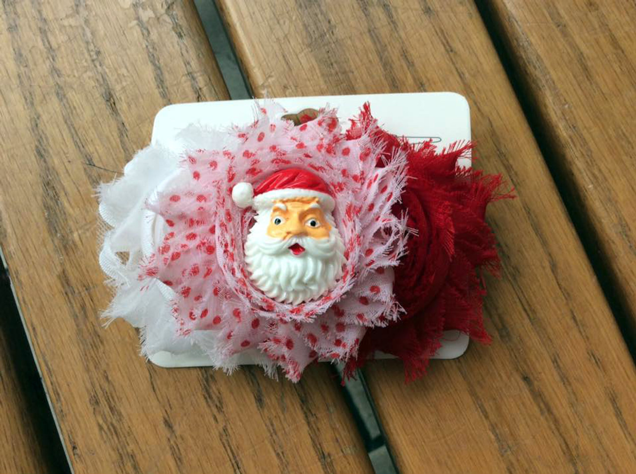 Christmas Red Green Polka Dot Leg Warmers /& Shabby Flower Headband