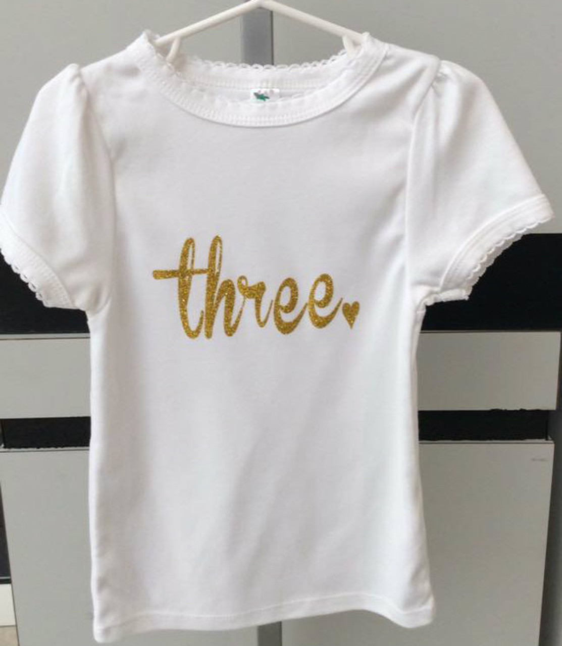 Girls Three Shirt Third Birthday