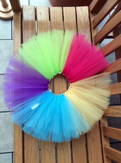 Girls Bright Colored Purple/Turquoise/Yellow/Fuschia/Lime Tulle Tutu, Birthday Tutu, Girls Tutu, Clown Tutu