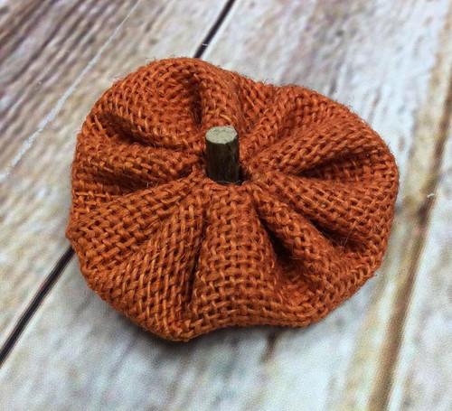 Thanksgiving Burlap Pumpkin Hair Bow, Pumpkin Hair Bow, Thanksgiving Hair Bow, Thanksgiving Hair Ribbon, Pumpkin, Thanksgiving, Fall Hair Bow