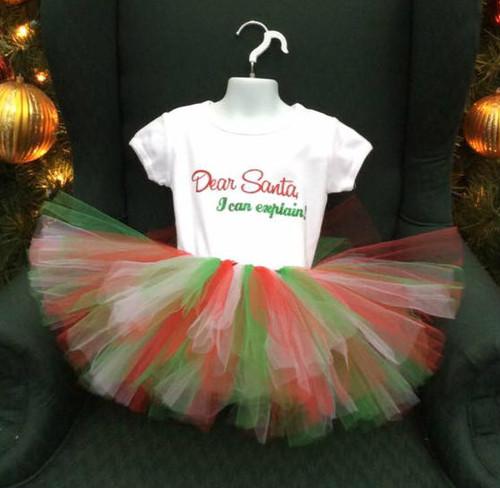 Dear Santa I Can Explain Christmas Shirt, Child's Christmas Shirt, Dear Santa, Kid's Christmas Shirt, Santa Shirt